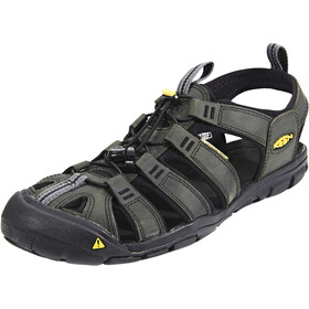 Keen Clearwater CNX Leather Sandaler Herrer, magnet/black